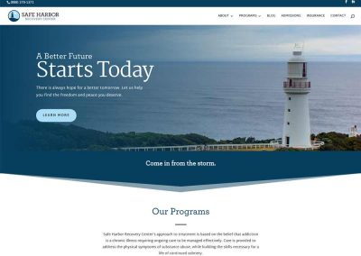 Safe Harbor Recovery Center Website Screenshot